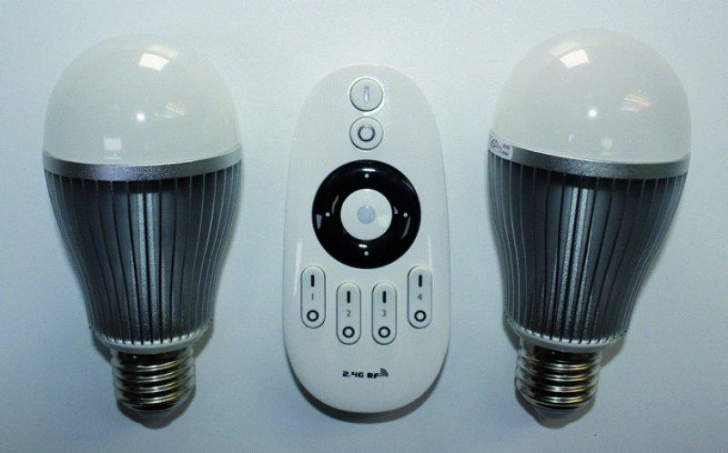 LED MiLight Starterset mit 2x 6W Kugel E27 dimmbar ww bis cw