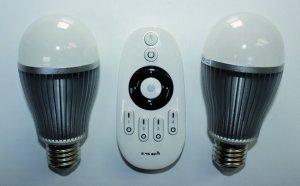 LED Mi Light Starterset mit 2x 6W Kugel E27 dimmbar ww bis cw