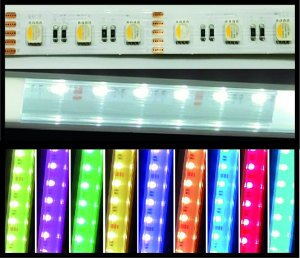 LED Strips 14mm RGB+NW IP20 5m Rolle 20 W/m