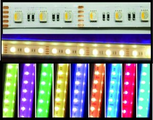 LED Strips 12mm RGB+WW IP20 14,4 W/m auf Mass