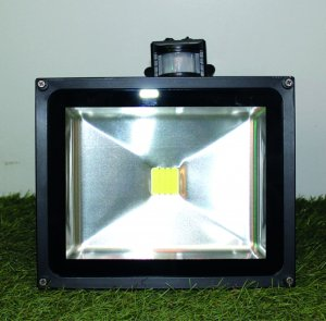 LED Flutlicht 30 Watt mit Bewegungsmelder nw/cw