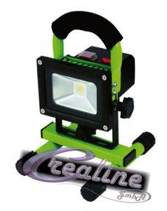 LED Flutlicht 10 Watt cw mit Akku und Warnblinkfunktion