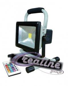 LED Flutlicht 10 Watt mit Akku RGB