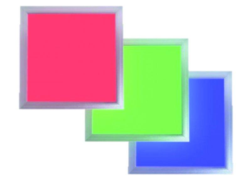 led panel 13 watt rgb farbe dimmbar 30x30x1 0cm. Black Bedroom Furniture Sets. Home Design Ideas