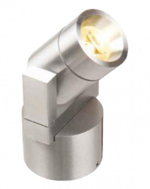 LED Wandstrahler 3W Aluminium ww