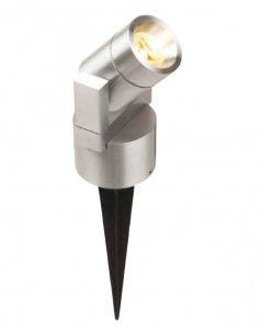 LED Gartenstrahler Spiess 3W Alum. ww