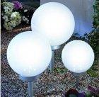 LED Solar Kugelset 3er Set