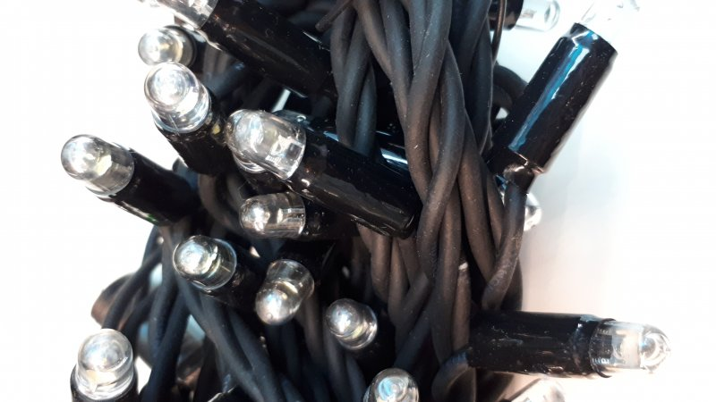 LED Lichterkette schwarz 4m Länge ww