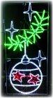 LED Weihnachtsbeleuchtung grosse Glocke mit Zweig