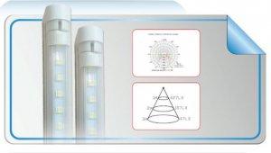LED Röhre T5 fixer Halterung mit Kippschalter 6 Watt 44cm  nw/cw