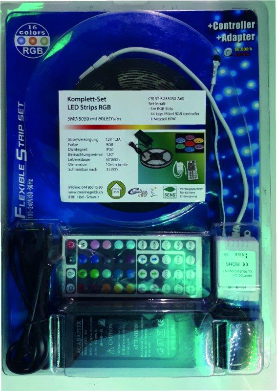 LED Fiberglasset 5 Watt RGB