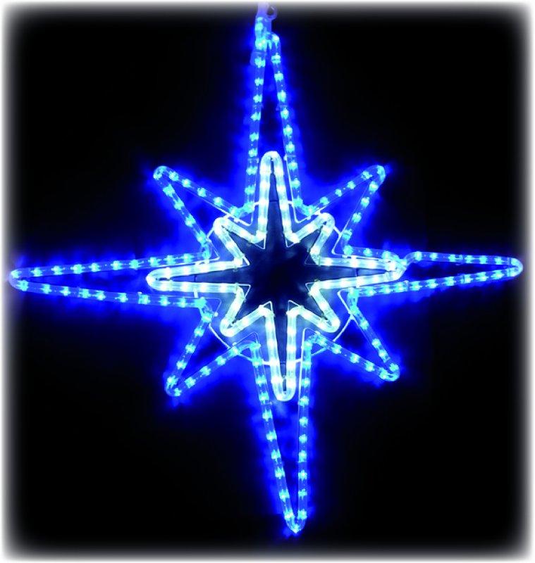 LED Stern weiss blau