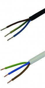 Kabel 3adrig 230V mit Mantel Meterware