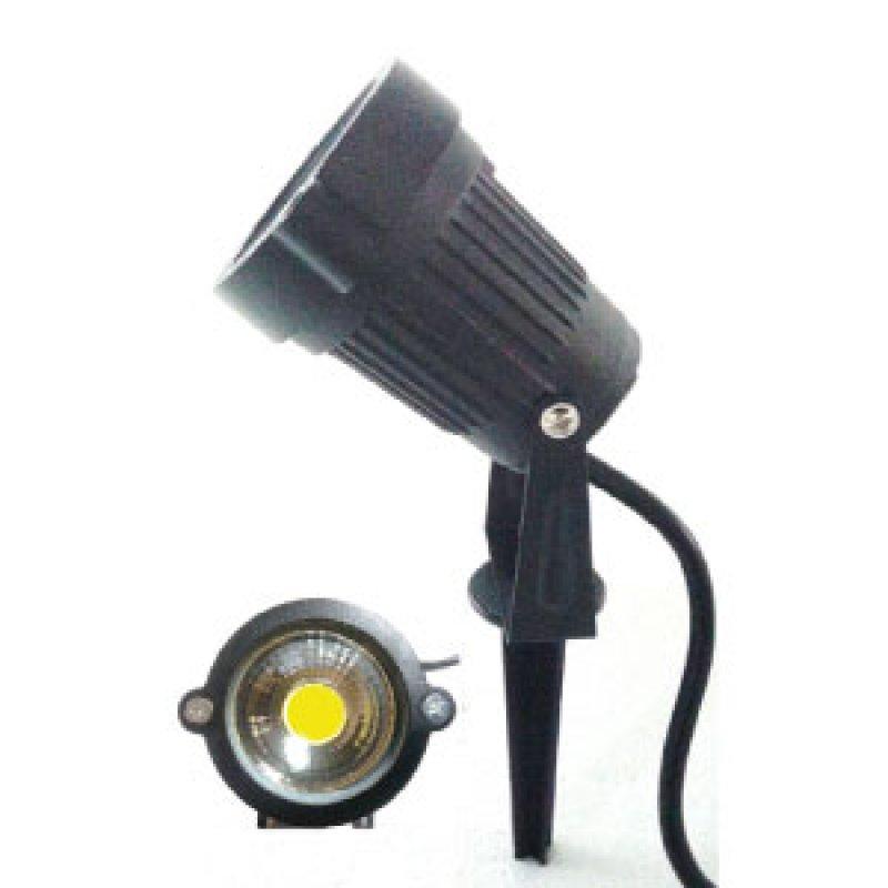 LED Gartenstrahler Spiess 3W COB ww schwarz