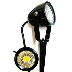 LED Gartenstrahler Spiess 7W COB ww schwarz