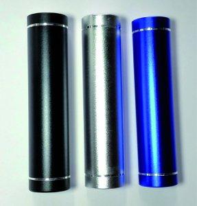 Powerbank 2200mAh Schwarz/Grau/Silber