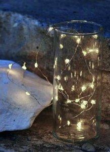 LED Lichterkette mit Herzen