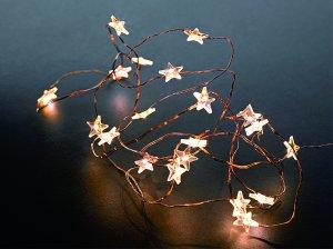 LED Lichterkette mit Sternen