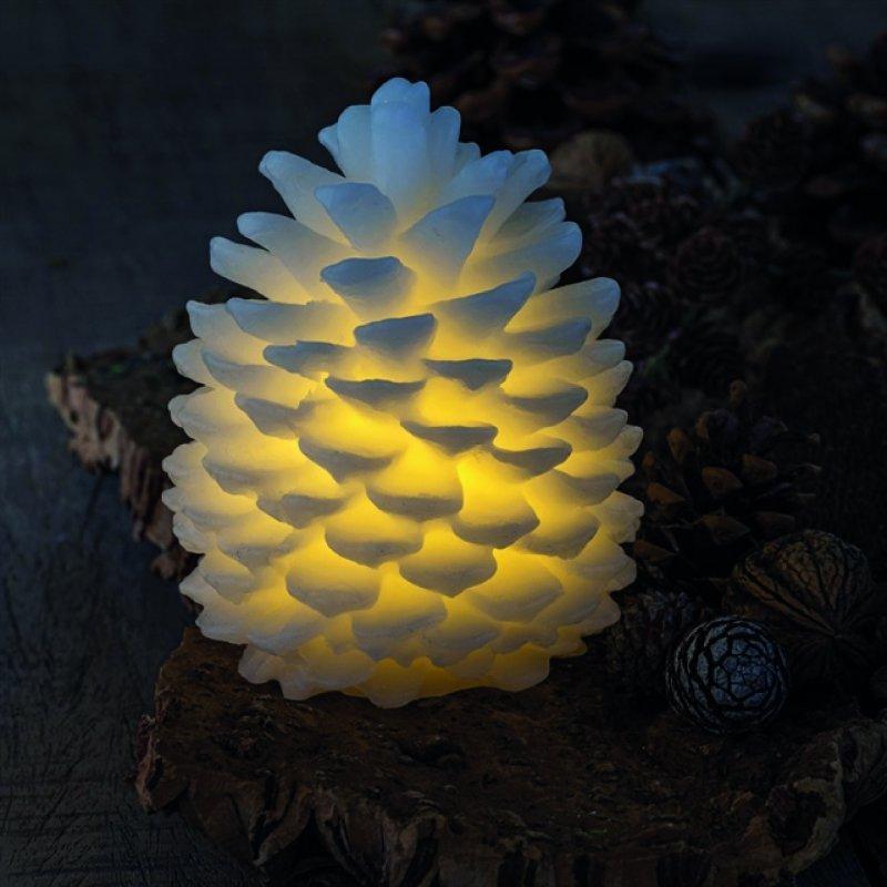 LED Tannzapfen aus echtem Wachs