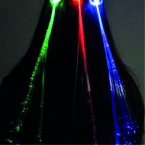 LED Haarspange mit Fiberglassträhne 1 Stk.
