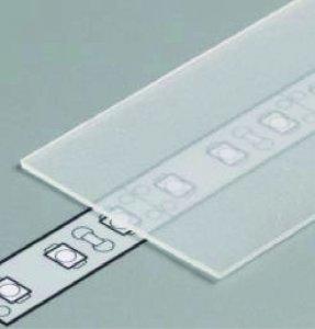 Profil Abdeckung G slide weiss/frost/transparent