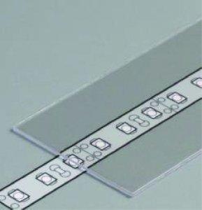 Profil Abdeckung H slide weiss/transparent