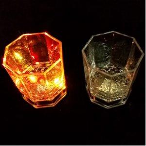 LED Farblichtbecher mit Feuchtigkeitssensor