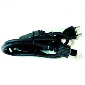 Stromanschluss schwarz für LED Lichterketten mit Gummikabel