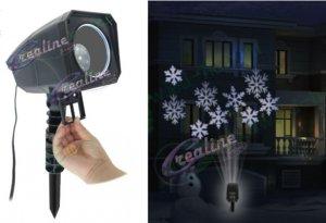 LED-Projektor weiss mit wechselbaren Sujets