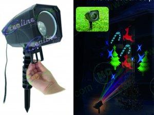 LED Projektor RGB mit wechselbaren Sujets