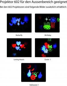 Bilder für den Projektor 602 Aussenbereich