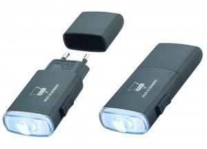 Aufladbare LED-Taschenlampe schwarz