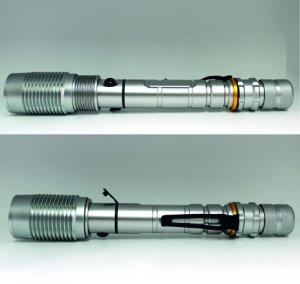 Taschenlampe Silverstar mit Dreh-Zoom