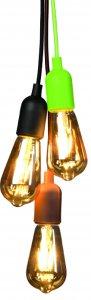 Lampenpendell E27 Textil in Grün, Schwarz oder Braun