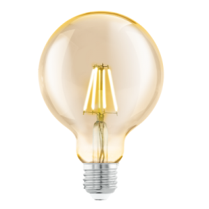 LED Kugel Amber E27 4 Watt Warmweiss