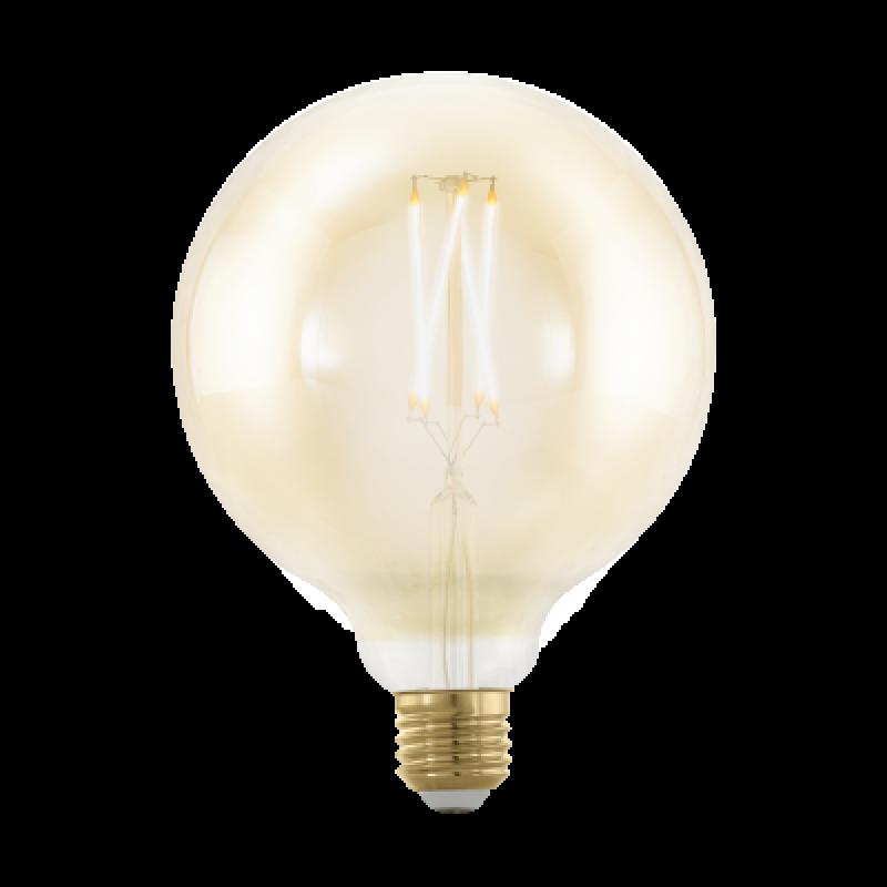 LED Kugel Amber gross E27 4 Watt Warmweiss