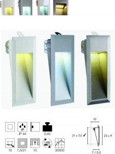 Wandeinbauleuchte Downunder 15 LED Integriert
