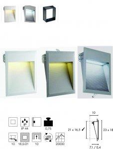 Wandeinbauleuchte Downunder 27 LED Integriert