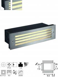 Wandleuchte Brick Mesh LED Integriert