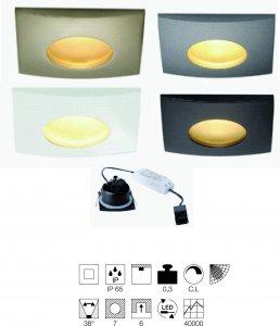 Einbauleuchte Out IP65 viereck LED Integriert