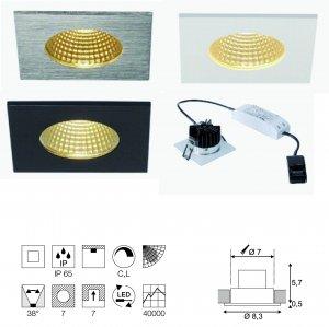 Einbauleuchte Patta-I viereck LED Integriert