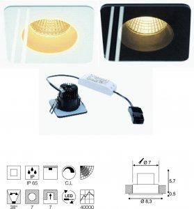 Einbauleuchte Patta-F viereck LED Integriert