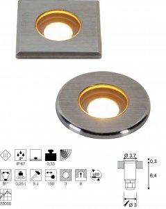 Bodeneinbauleuchte Dasar Mini 37 LED Integriert