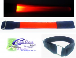 LED Safety Armband in weiss oder orange