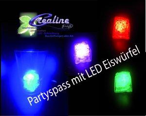 LED Eiswürfel in Rot, Grün, Blau oder Pink