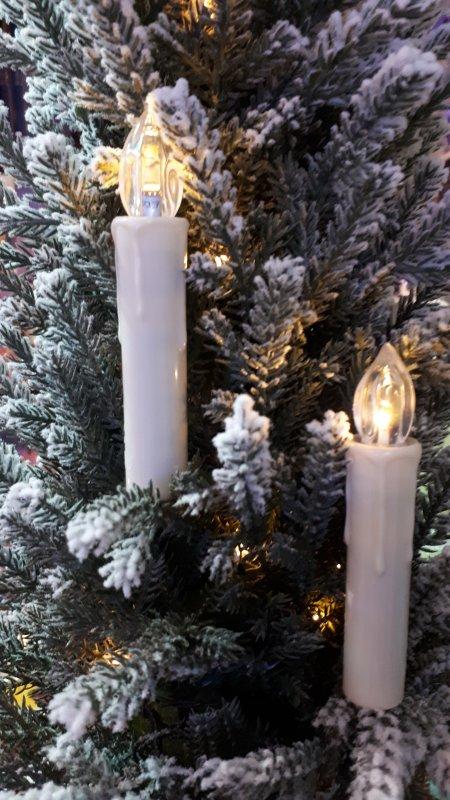 LED Kerze RGB+WW mit Fernbedienung