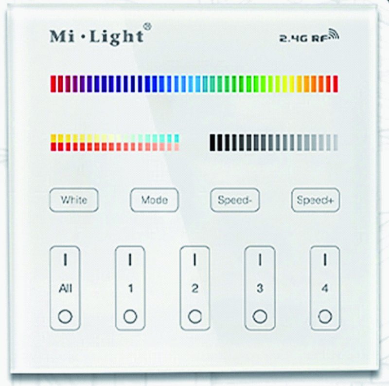 Wandsender miLight  RGBcct mit Batterie