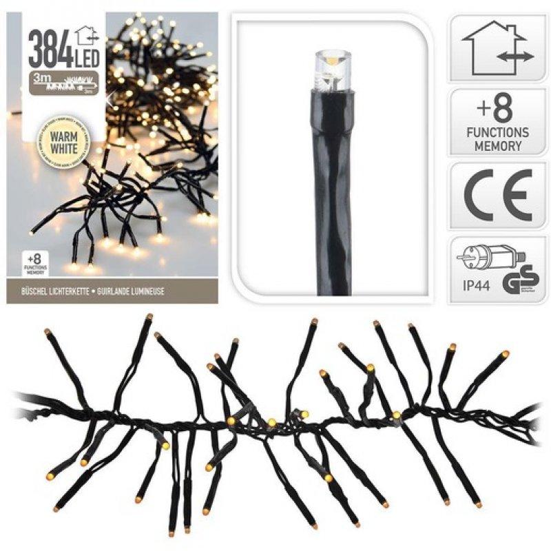 384 LED warmweiss Büschelkette