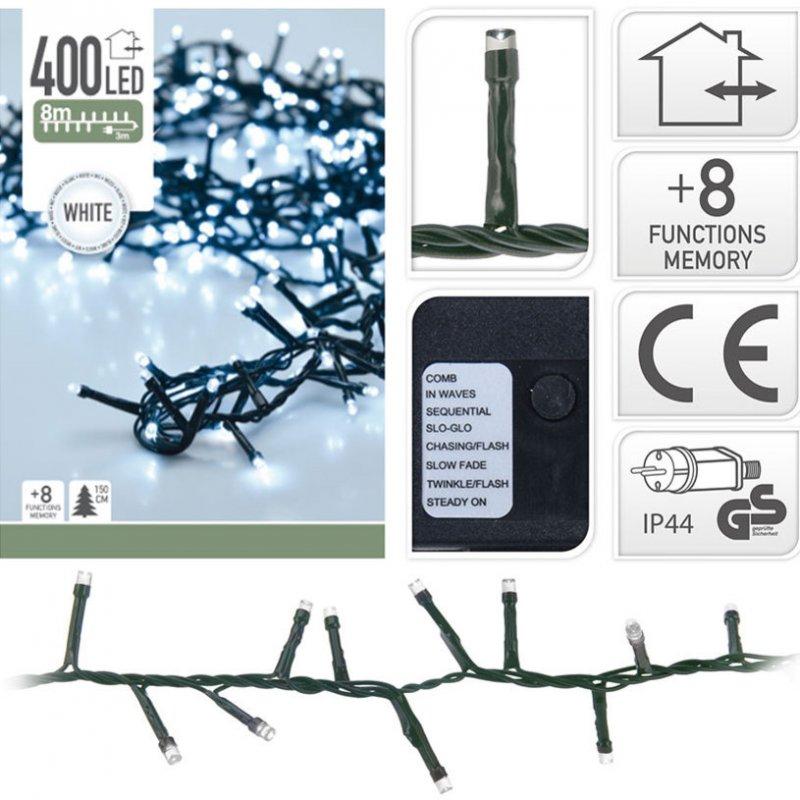 400 LED weiss Semi-Büschelkette