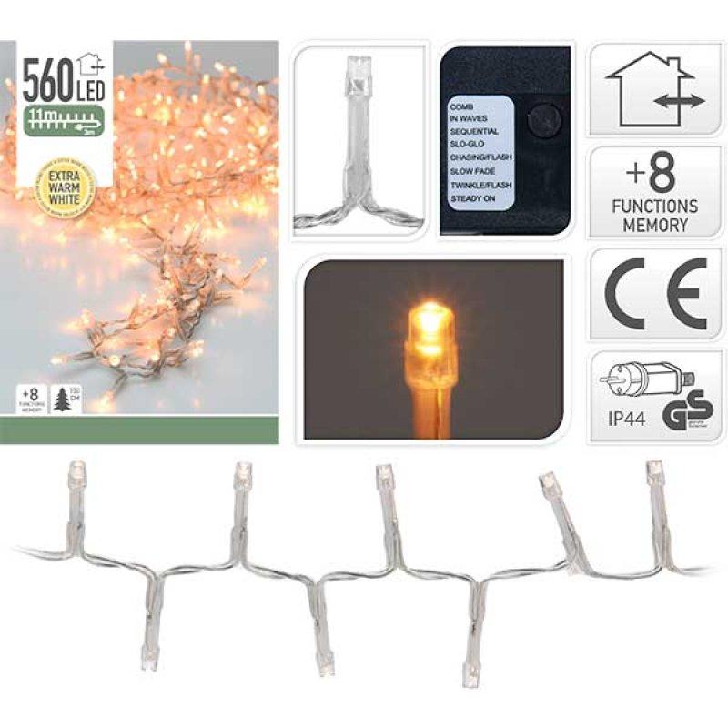 560 LED extra warmweiss Semi-Büschelkette